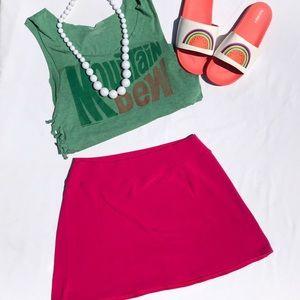Lands' End Pink Swim Running Skirt